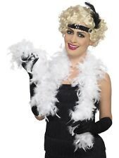 Ladies Boa 50g White Feather 150cm Womens Fancy Dress