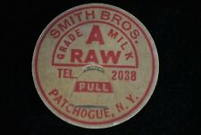 Patchogue,New York-Smith Bros. Dairy-Grade A Raw-Milk Bottle Cap bs86
