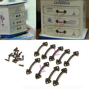 DIY Decorative Mini Jewelry Box Chest Case Drawer Cabinet Door Pull Knob Handle