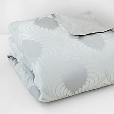 Hudson Park Bedding Luxe Aurora King Duvet Cover Silver MSRP $630 W1939