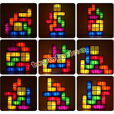 funny lamps for sale floor lamps tetris desk table led lamp premium diy puzzle stackable game style funny light in lamps for sale ebay