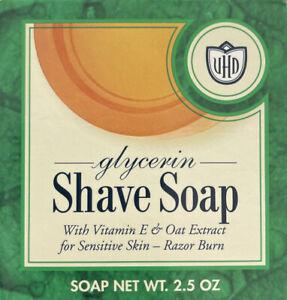(VHD)VAN DER HAGEN Glycerin Shave Soap 2.5 OZ With Vitamin E For Sensitive Skin