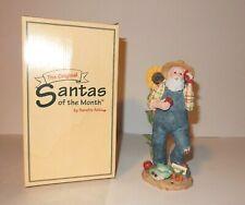 Sarah's Attic Santas of the Month Figurine ~ Farmer Santa June Series G Rare