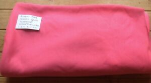 END OF ROLL BRIGHT PINK SWEATSHIRT FABRIC WARM 1.9m x 1.8 M EX SHOP STOCK