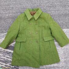 Vintage Irish Tweed Girls Wool Coat Jacket Age 2-3 Yrs Double breasted Ireland