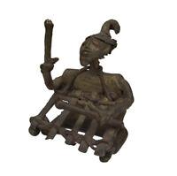 Afrika Akan Ashanti Figur Kunst Bronze Gelbguss Bronzefigur