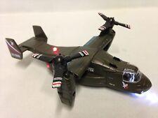 "Bell Boeing V-22 Osprey,Helicopter, 8"" Diecast, Pull Back, Sounds,Light, Army GR"