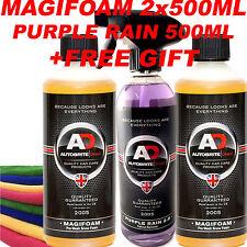 Purple Rain Wheel Cleaner Autobrite 500ml + MagiFoam Snow Foam 2x500ml GIFT