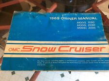 Vintage Sno Cruiser snowmobile owners manual