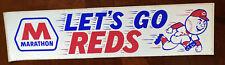 Vintage CINCINNATI REDS bumper sticker