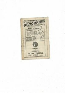 1949 Widnes v Bradford Northern Rugby League Programme