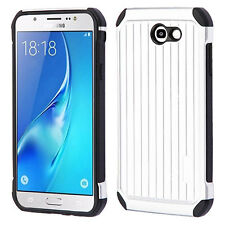 Silver Suitcase Protector Case Cover +Glass Screen FOR Samsung Galaxy