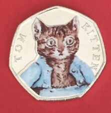 2017  Beatrix Potter 50p Coin Tom Kitten  From Sealed Bag UNC Colour Decal