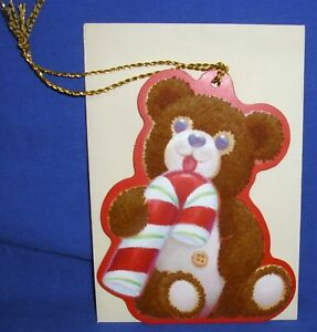 Hallmark Christmas Keepers Hanging Card Gift Tag Cinnamon Bear Pete Dutkin III