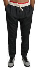 DOLCE & GABBANA Pants Wool Gray Sweatpants Sports Trouser IT48/W34/M RRP $800