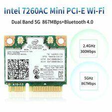 Intel Wireless-AC 7260HMW Network Card Half Mini PCIe Wifi Card Bluetooth 4.0