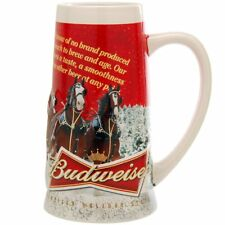 "2013 Budweiser Holiday Stein Mug ""Sights of the Season"" Clydesdale Horses NIB"