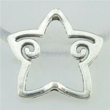 16779 20PCS Alloy Antique Silver Vintage Star Spacer Beads Frame Charms 25mm