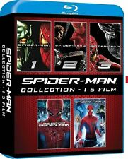 Spider-Man Complete 5 Film Collection 1+2+3 + Amazing Spiderman 1&2 Blu-ray New