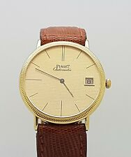 Very Rare Vintage 18K Yellow Gold Piaget Altiplano Automatic Watch Cal 12PC
