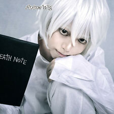 Death Note Near 30CM Short White Synthetic Hair Men Cosplay Wig Halloween Party