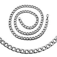 1 Panzerkette Edelstahlkette Halskette Glieder Damenschmuck Königskette bis 16mm