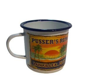 Pusser's Rum Enamel British Navy Tin Coffee Cup Mug Royal Pain Killer Spirits
