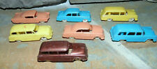 F&F Mold Ford Cereal Premiums Plastic Cars 1950's Ford Tudor + Country Sedan Lot