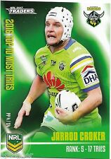 2017 NRL Traders Pieces of the Puzzle (PP 4/54) Jarrod CROKER Raiders