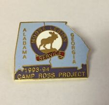 1993-94 Moose Legion Service Alabama - Georgia Camp Ross Project Pin