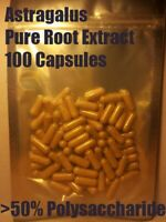 Astragalus Root Extract 100 Capsules >50% Polysaccharides - Organic and potent