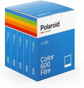 Polaroid 600  Film Set  5 Filme Color  Polaroid 600 production date 07/2021
