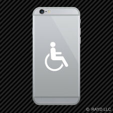 (2x) Handicap Cell Phone Sticker Mobile wheelchair accessible many colors