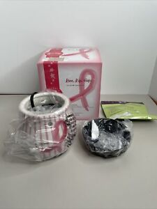 Scentsy LOVE LIFE HOPE Pink Ribbon Breast Cancer Awareness Wax Warmer Full Size