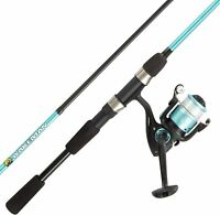 Fishing Rod and Reel Combo-6' Fiberglass Pole, Spinning Reel for with 10lb by