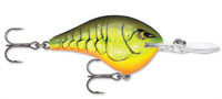 """Rapala Dives To 10 """"Chartreuse Rootbeer Craw"""""""