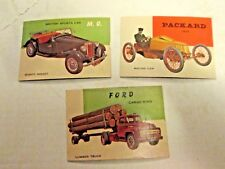 1953 topps world on wheels near set of 152/160  mid to high grade