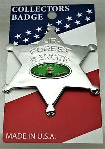 Smokey Bear Junior Forrest Ranger Badge Pin NOS New 2000's Prevent Wildfires