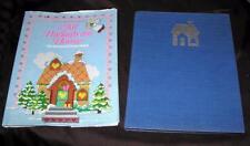 VINTAGE 1986 ALL THROUGH THE CASA NATALE IN punto croce Ago artigianato libro HC