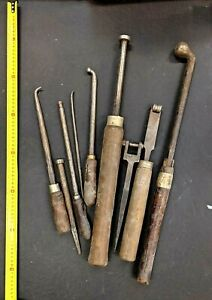 Vintage METAL SPINNING TOOLS. Mixed lot of various burnishes, Unique, industrial