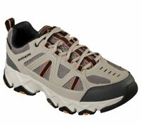 Skechers Taupe Black Extra Wide Fit Shoes Men's Memory Foam Sporty Comfort 51885