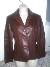 Wilsons Leather Fall Jacket Brown Chocolate Leather Size M