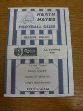 21/10/2000 Heath Hayes v Barrow Town [FA Vase] . Thanks for viewing this item of
