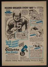 Steven Van-Buren Philadelphia Eagles Halfback 1946 Gillette AD Football Cartoon