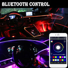 6M 5in1 RGB LED Car Interior EL Wire Light Strip String Sound Active APP Control