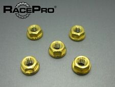 RacePro - Yamaha YZF R6 99-01 - x5 Titanium Rear Sprocket Nuts - Gold
