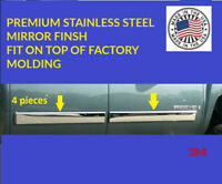 for  SILVERADO CREW CAB 2009-2013 CHROME BODY SIDE MOLDING OVERLAY  4 1/4 Trim