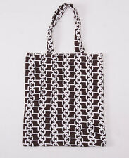 New KITON NAPOLI Chocolate Brown Printed Terry Cloth Small Beach-Pool Tote Bag