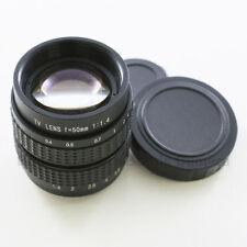 """50mm f/1.4 2/3"""" CCTV lens for Olympus Panasonic Micro 4/3 M43 E-P1 PL3 M5 G3 GF3"""
