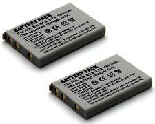 2x 3.7v 1600mAh Li-ion Battery For NIKON CP1 EN-EL5 MH-61 MH61 Digital Camera